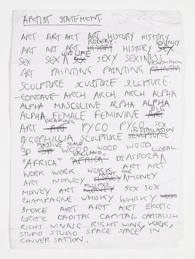 Irvin Pascal - Artist Statement