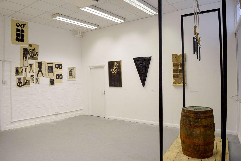 Art by artist Irvin Pascal, Interim Show, University of Brighton